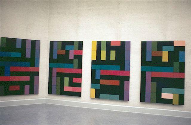 Peter Struycken : Een serie van zestien nieuwe schilderijen