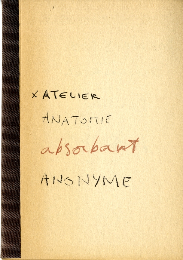Atelier, Anatomie, Absorbant, Anonyme