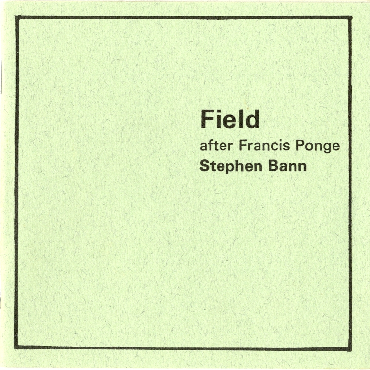 Field after Francis Ponge