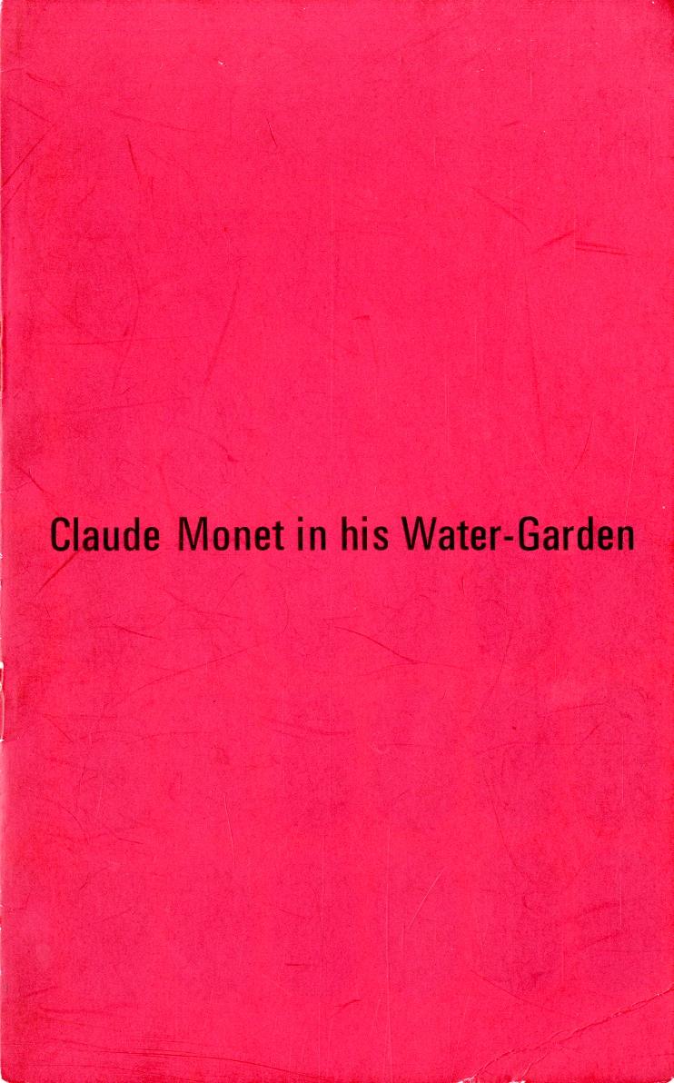 Claude Monet in his Water-garden