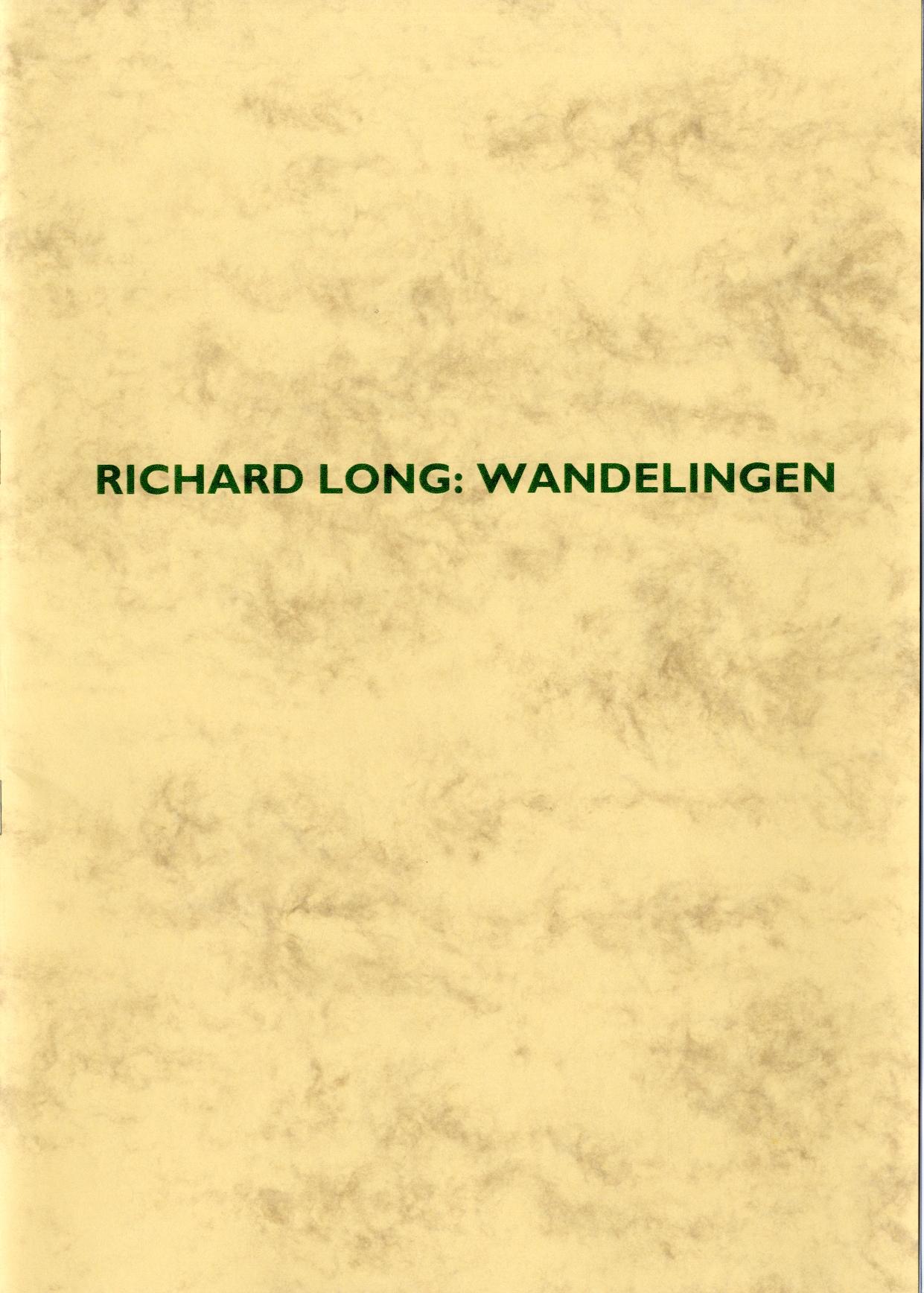 Richard Long : Wandelingen