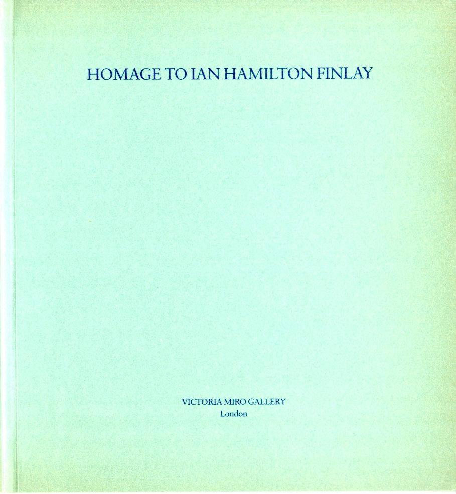 Hommage to Ian Hamilton Finlay