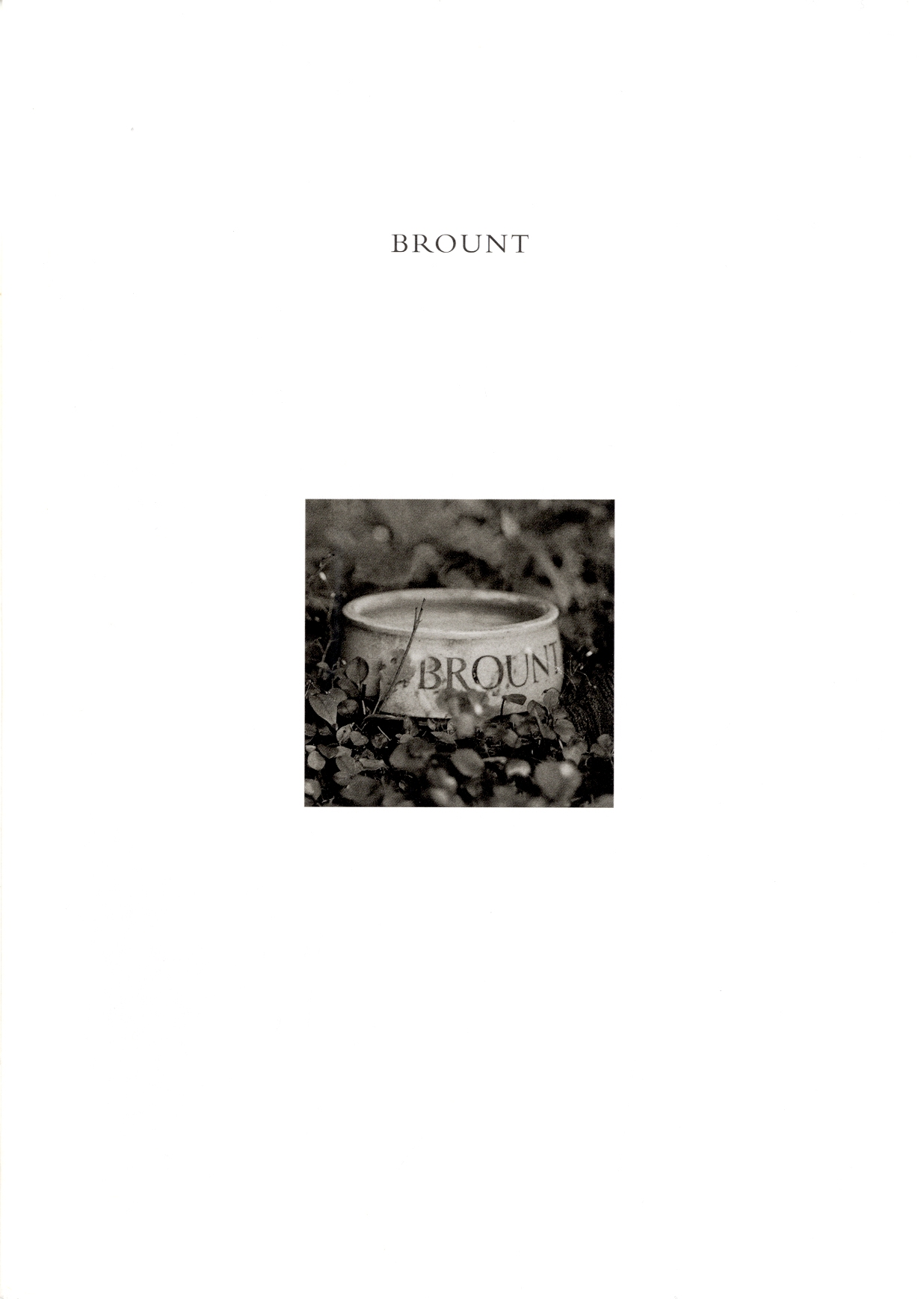 Brount: an idyll