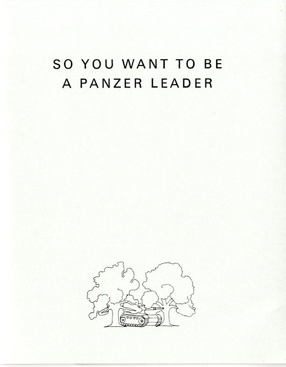 So you want to be a panzer leader