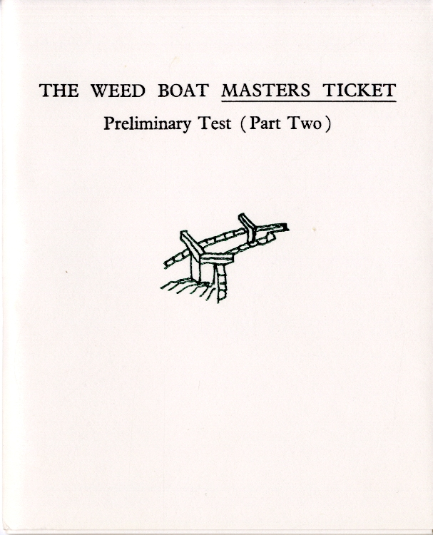 The weed boat masters ticket