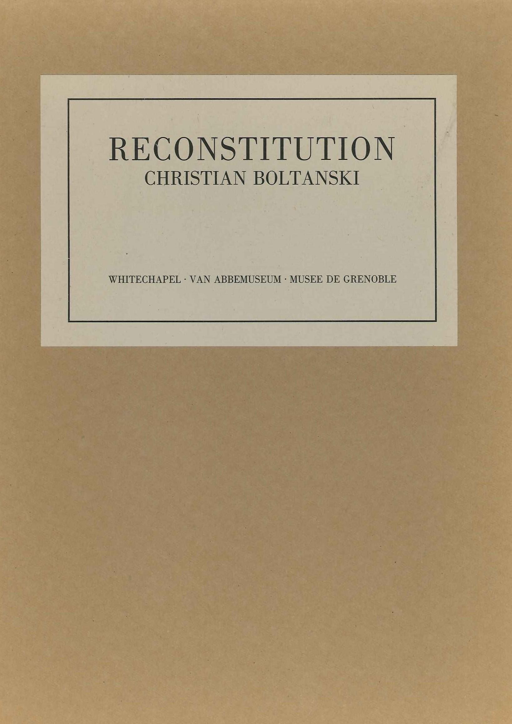 Christian Boltanski : Reconstitution