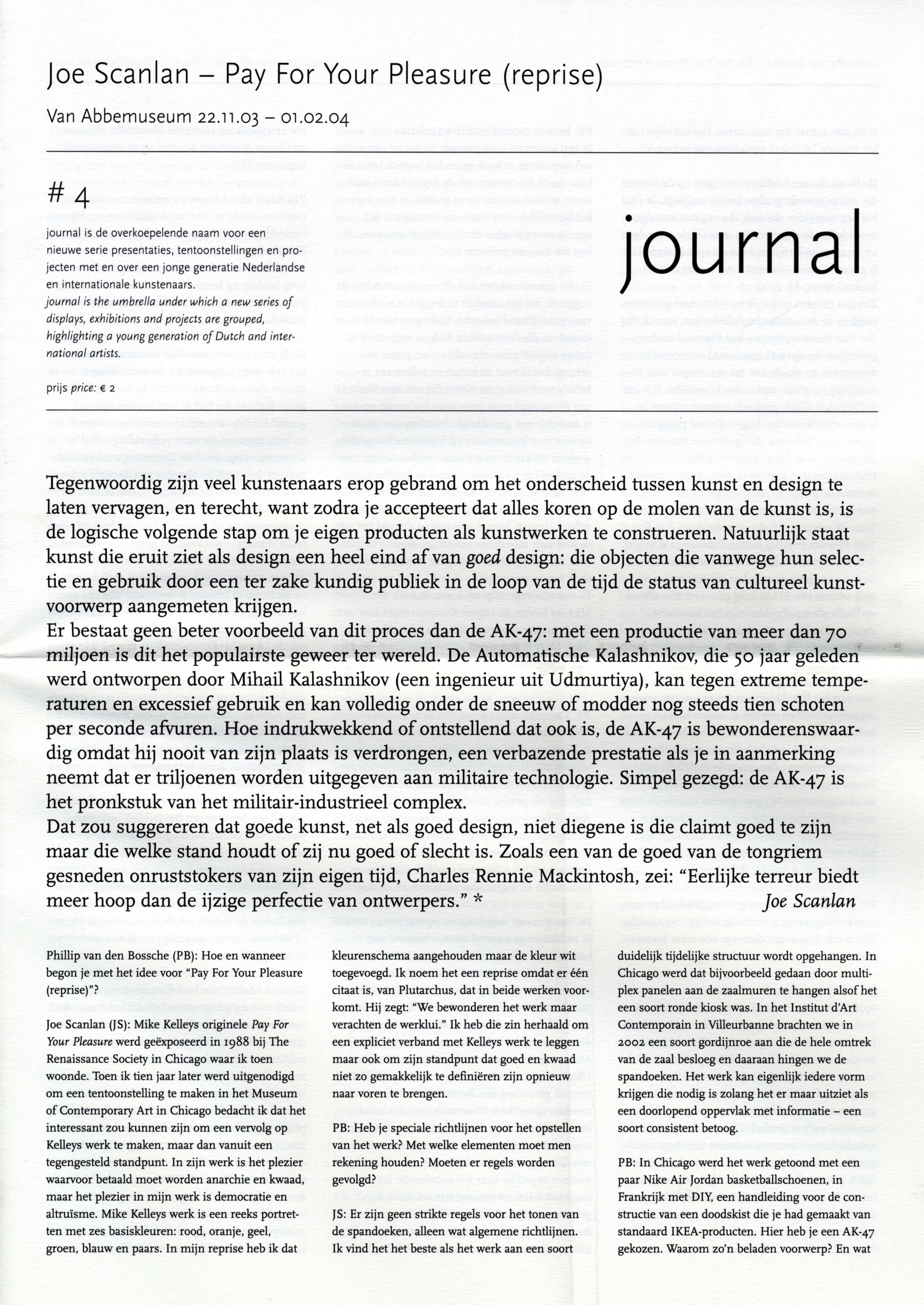 journal # 4 : Joe Scanlan