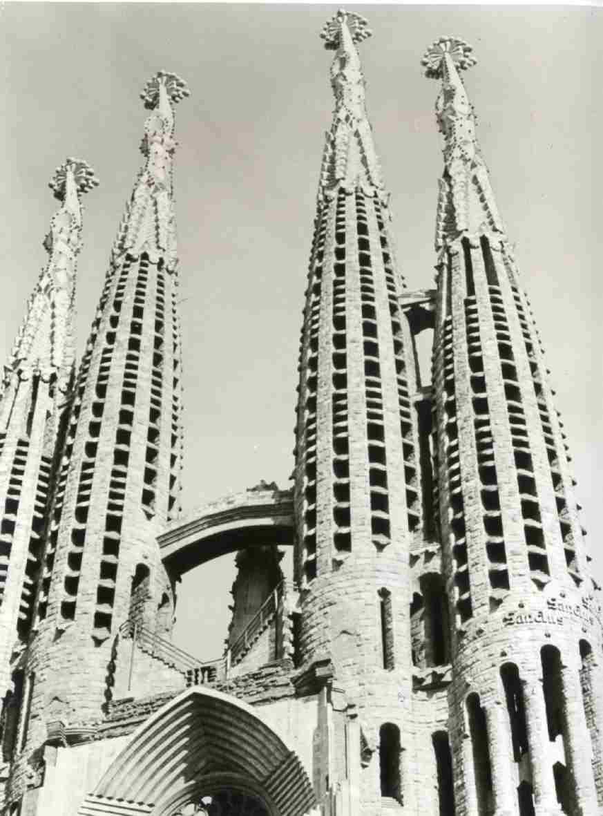 Gaudí : Fotopanelen, maquettes