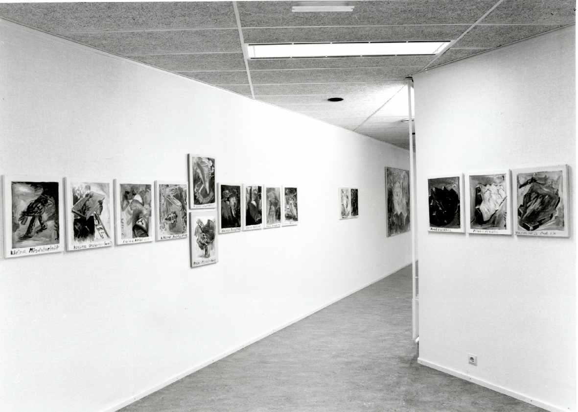 Jörg Immendorff : Eisende : Eine Serie von Bilder aus 1981