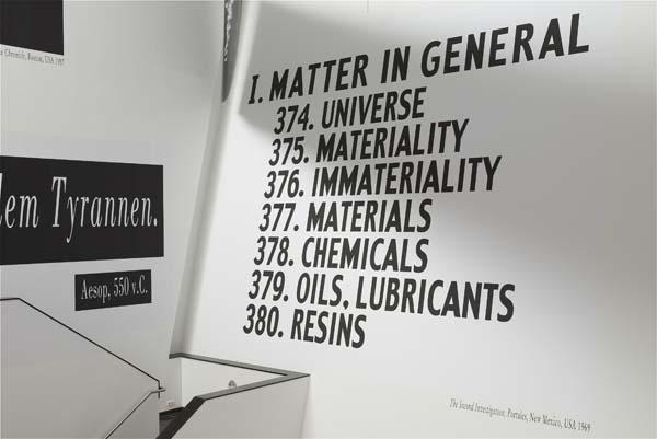 Toren: Joseph Kosuth: Re-defining the Context of Art: 1968-2004
