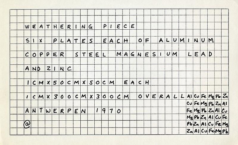 Bibliotheektentoonstellingen: Uit de collectie : Carl Andre