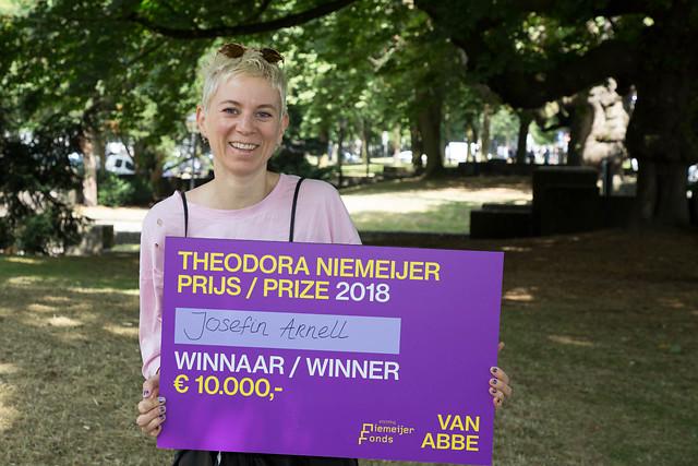 Josefin Arnell winnaar Theodora Niemeijer prijs